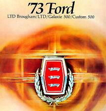 1973 FORD LTD-GALAXIE-CUSTOM 500 BROCHURE -LTD-GALAXIE 500-CUSTOM-COUNTRY SQUIRE