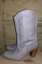 JEFFREY CAMPBELL TAUPE LEATHER HIGH HEEL WESTERN COWBOY BOOTS SPAIN 9 M
