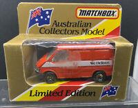 Matchbox Superfast No 60 Ford Transit Van Australian Post We Deliver Mint Boxed