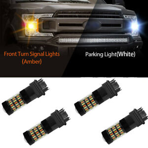 Switchback Turn Signal FIT FOR GMC Sierra 1500 2500 White/amber LEDs 07-13 4Pcs