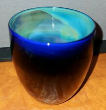 Glassybaby OOAK One Of A Kindness Dark Blue And Silver Multicolor Inside Luster
