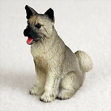 Akita, Grey, Dog Figurine, Tiny Ones