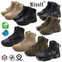 Mens Military Tactical Ankle Boots Comfort Desert Combat Army Hiking Shoes boots