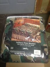 camouflage blanket fits twin full 72 x 90 Owen camo