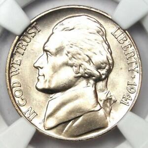 1941-D Jefferson Nickel 5C - Certified NGC MS68 5FS Full Steps - $4,000 Value