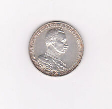 GERMANY PRUSSIA 1913a SILVER COIN 3 MARK KM 539 UNC