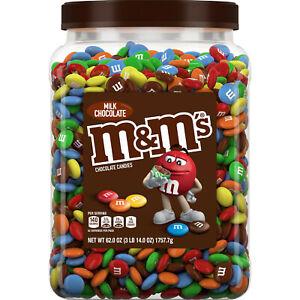 M&M's Milk Chocolate Candies Jar (62.0 OZ), 3 Pound Pantry Size