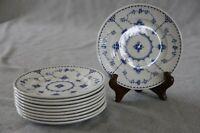 "Franciscan Denmark Blue White Plates 6"" Bread Butter SET of 10 Ironstone England"