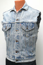 vtg Levi's LIGHT BLUE JEAN VEST XS 80s RedTab denim biker 70507 cutoff jacket