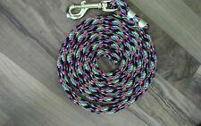 Nylon Poly Miniature Horse Pony livestock Dog Lead Rope USA Made- multi colored
