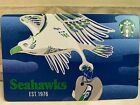 NEW Starbucks 2021 SEATTLE SEAHAWKS, NFL Holo, pin intact,no swipes,no funds