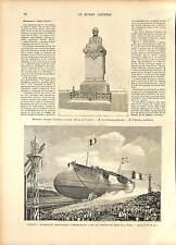 D'Entrecasteaux Croiseur Marine France Arsenal de Toulon GRAVURE 1896