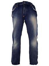 datch jeans uomo blu denim dritto taglia it 47 w 33