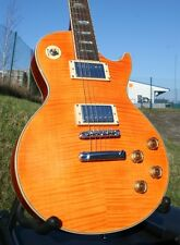 EDEL LE PAUL STANDARD * FLAME MAPLE TOP* MASSIVER MAHAGONI BODY* GROVER* ORANGE