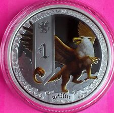 2013 tuvalu silver créatures mythiques-GRIFFIN $1 dollar proof coin case + coa