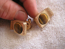 Vintage Wrap-Around Cufflinks with Tiger-Eye