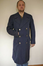 Vintage US NAVY Air Force Military 100% Wool Winter Trench OVERCOAT 35L