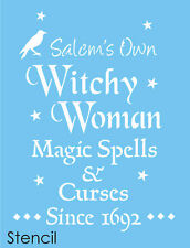 Joanie Stencil Salem Witchy Woman Crow Star Magic Spell Curses 1692 Sign U Paint