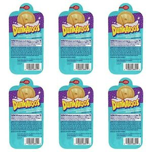 Dunkaroos 6 Pack Snack Vanilla Frosting Creme Rainbow Sprinkles 90s Nostalgia