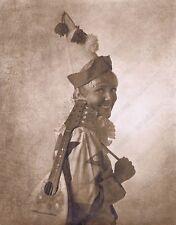Hendrickson Original Photo Sepia Cute Blonde Clown and Her Guitar 11x14