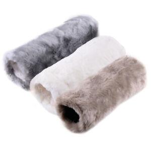 Fashion Unisex Faux Fake Fur Muff Hand Warmer Soft Warm Gloves Gray Hot Sale