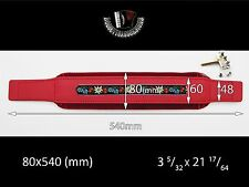 ACCORDION BASS STRAP FOLK RED Leather Velvet 540x80 With Hardware Included