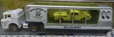 FORD1964 MUSTANG 1966 COE TRUCK TRAILER MOON GO DRAG RACE WHITE WALMART 18-04 M2