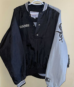 Rare Vintage STARTER Chicago White SOS Pullover Jacket With Buttons - XL