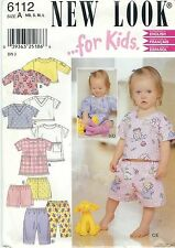 New Look 6112 Baby Shirts, Shorts and Pants NB to L   Sewing Pattern