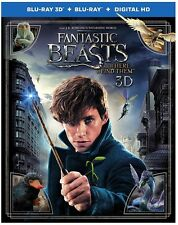 Fantastic Beasts and Where to Find Th 3D (used) Blu-ray ** No Cover Art, No case