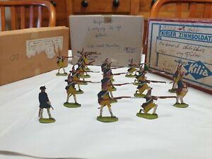 Antique 17x Zinnfiguren tin soldier flats 18thC Prussians, German
