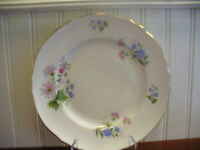 Staffordshire England Fine Bone China Wildflowers Floral Motif Buffet Plate