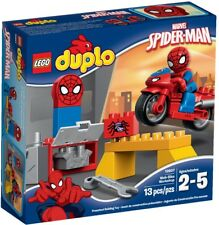 Lego Duplo Bnib 10607 spider man web bike workshop spiderman play Marvel