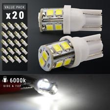 20X White T10 921 6000K License Plate Interior SMD Lights Bulbs 10-LED