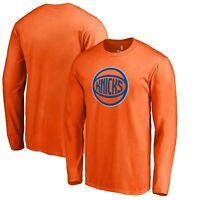 New York Knicks Fanatics Branded Alternate Logo Long Sleeve T-Shirt - Orange
