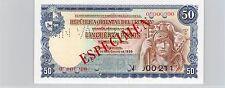 URUGUAY SPÉCIMEN 50 PESOS 2.1.1939 PICK 38 b S !!!!