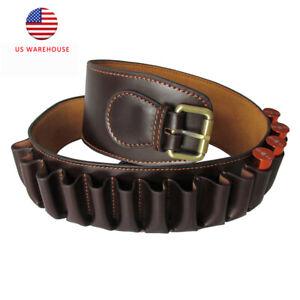 Tourbon Genuine Leather Bandolier 12 Gauge Cartridge Belt Hold 23 Shotgun Shells