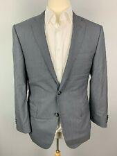 Corneliani Leader Pinstripe 18,25 Micron Wool Suit US 40 R / EU 50 R Blue Gray