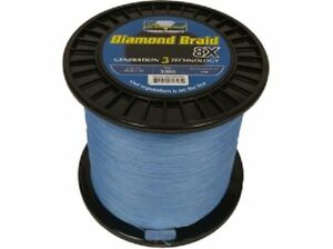 Momoi Diamond Braid Generation III 8x Fishing Line-600 Yards Blue Pick Line Test