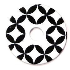 Das Original RING DING Scheibe Flower of Life big b&w Acryl 36mm