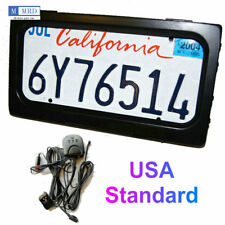 1pc US Hide-Away Shutter Cover Up Electric Stealth License Plate Frame w/ Remote