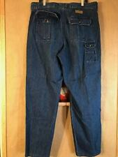 Cabela's men's 7-pocket Hiker blue denim jeans size 38 inseam 32 zipper fly cott