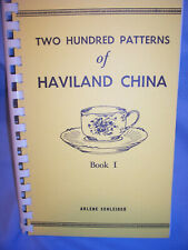 ARLENE SCHLEIGER Haviland China Illustrated PATTERN IDENTIFICATION Guide Book 1