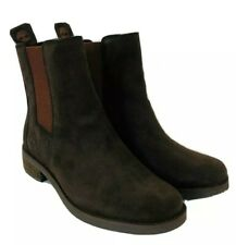Timberland Women's Venice Park Chelsea Brown Suede Leather Boots Shoes A1IXM