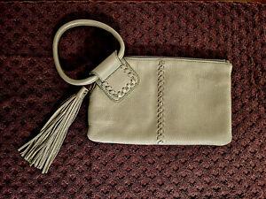 Hobo Sable Velvet Pebbled Hide Leather Clutch Wristlet