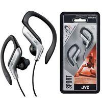 JVC HA-EB75 SILVER Sweat Resistant Sports Ear Clip Earphones Headphone Brand New