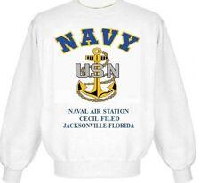 NAVAL AIR STATION CECIL FIELD-JACKSONVILLE-FL* NAVY ANCHOR EMBLEM SWEATSHIRT