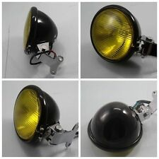 Metal High Low Beam Headlight Lamp For Honda Yamaha Harley Bobber Custom Chopper