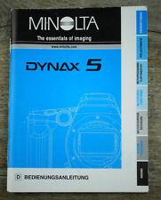 MINOLTA Kamera Bedienungsanleitung DYNAX 5 User Manual Anleitung (X6048