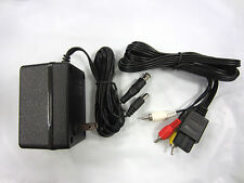 New Ac Adaptor Power Supply and Av Cable Cord Bundle for Super Nintendo / Snes
